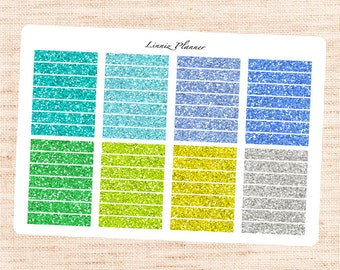 COOL Glitter Headers (Matte planner stickers, fits perfect in Erin Condren Life Planner)