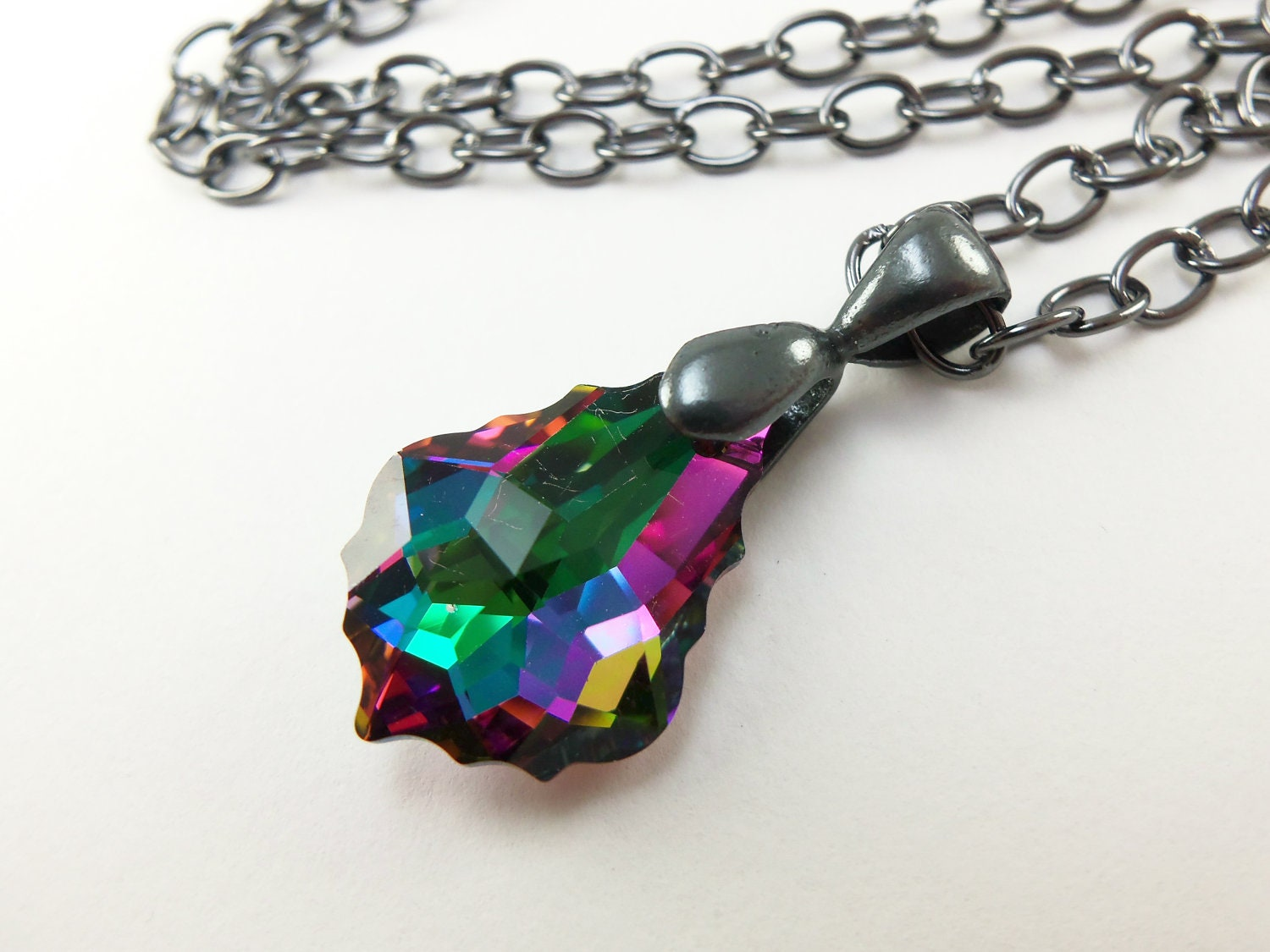 glimmer products rainbow necklace