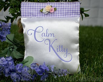 Aromatherapy Sachet, Lavender Pillow, Cat Aromatherapy, Aromatherapy Pillow, Cat Pillow, Lavender Sachet, Cat Show Accessory, Smelly Cat