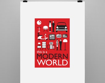 Modern World - Graphic Illustration Print