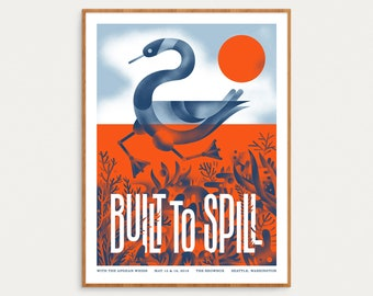 Built To Spill - May 15 & 16, 2018 Seattle, Washington - Official Gig Poster - 18x24