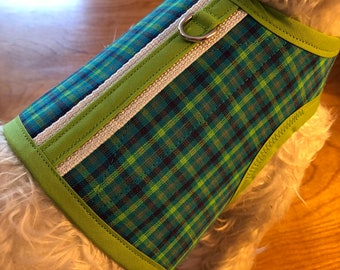 Summer plaid Small Dog Harness Made in USA, dog harness, dog harnesses