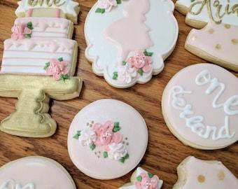 2 Dozen Alice in Wonderland Birthday Baby Bridal Shower Cookies