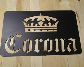 Corona plasma cut metal sign