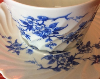 2 coffee cups with saucer porcelain of limoges Haviland torso