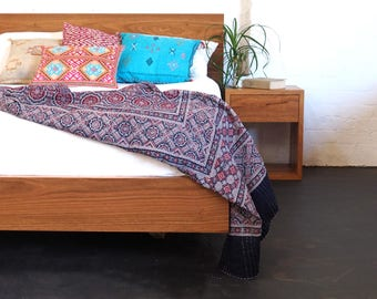 Paul's Floating Recycled Timber Bed - made in Melbourne