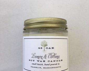 Lemon Verbena Soy Wax Candle-phthalate free natural bridesmaid gift housewarming gift