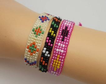 Summer Camp Style Friendship Bracelets Set Woven.