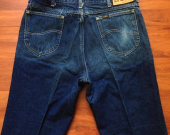 70's Lee Riders Jeans - Fit Close To 35W 30L - Made in USA - Talon 42 - Lee 204