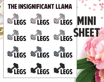 Leg Day - Legs - Work Out - Fitness - Gym - Healthy - Planner Stickers