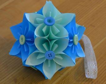 Japanese Kusudama origami paper flower ball