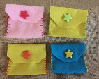 Small pouch/ small bag/ small case with star button