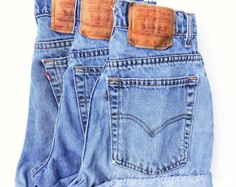 Vintage Levis high waisted Denim Shorts  All Sizes