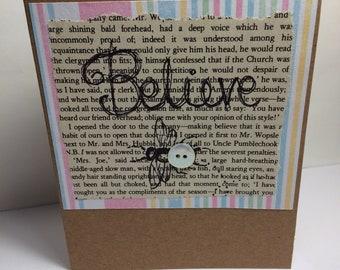 Believe bee greeting card