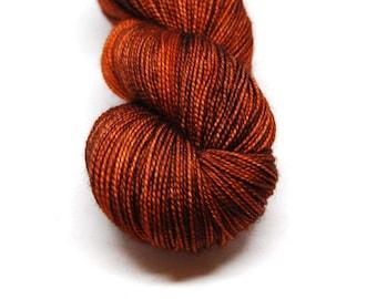 "Fingering Weight, ""Tea for One"" Merino Wool Superwash Yarn, 4 oz, machine washable yarn"