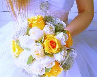 Rustic Wedding bouquet| orange| bouquet for bride| paper flowers| wedding bouquet|bride bouquet|paper bouquet| bridesmaid bouquet|