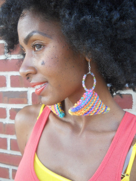 Neon Knit Earrings  ( SP2012 Cotton Candy Collection)