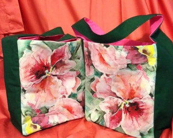 Pink Pansy Tote