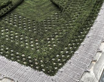FOREST GREEN Super Soft Merino Shawl