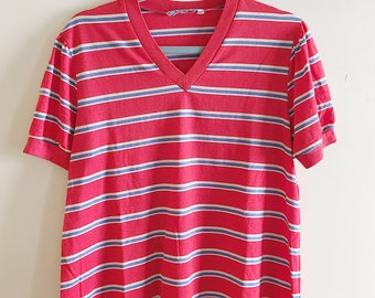 Vintage Levi's Striped V Neck Shirt
