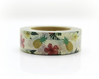 Tropical Pineapple Washi Tape - Craft Supplies - Planner Stickers - Erin Condren - Scrapbooking - Bujo Journal - Deco Tape - Love My Tapes