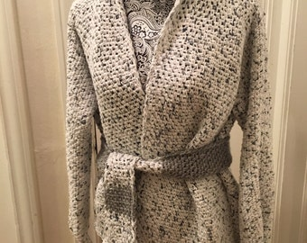Cotton Grey Cardigan Sweater