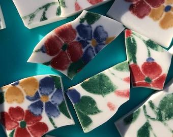 38 Floral Mosaic Tiles
