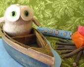 Etsy Front Page featured Daisy the camping Owl