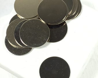 Nickel Silver Discs, 3/4 inch discs, 22 gauge thickness, silver color, great for charms,  Hand stamping Supply, 20 pack