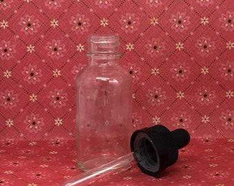 Clear Glass Dropper Bottle, 1 oz.