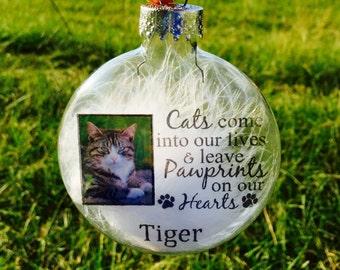 Cat Memorial Ornament - Personalized Cat Photo Ornament - Personalized Cat Memorial -  Cat Loss Gift - Cat Keepsake - Cat Lover Gift