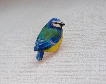 Blue tit pin