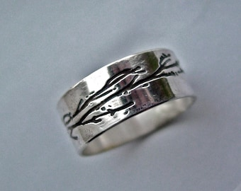 Personalized jewelry, Branch ring, tree branch ring, sterling silver ring, tree jewelry, branch jewelry, tree branch, silver tree ring,