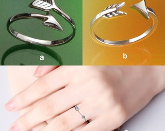 925 Solid Sterling ARROW Ring/Silver Arrow Ring