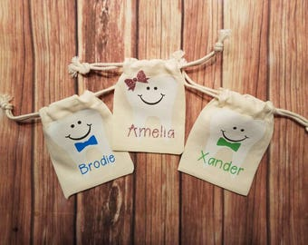 Tooth Fairy name pouch Personalized