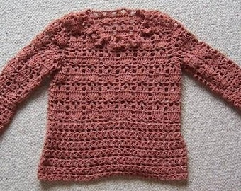 Pullover tunic for girl crocheted