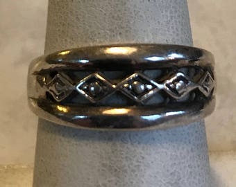 Sterling Silver Band Ring-Size 7