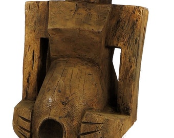 Songye Protection Figure Four Faces Congo Africa 39 Inch 96890
