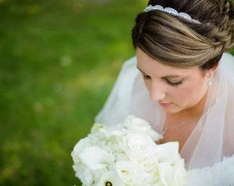 Bridal headband,  rhinestone headband, bridal headpiece, crystal headband, hair accessory, art deco, bridal accessories, gatsby, ATHENA