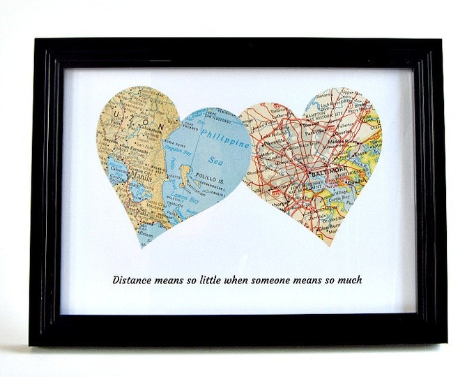 Featured listing image: Personalized Distance Gift for Mom, Mother's Day Gift for Long Distance Mom, Mother in Law Long Distance Gift, Mother Daughter Distance Gift