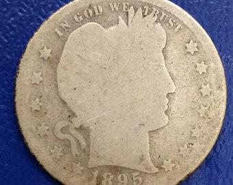 1895-S Barber Quarter, Liberty Head Quarter  <>  Better Date  <>  M371