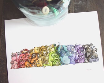 Animal Spectrum Print