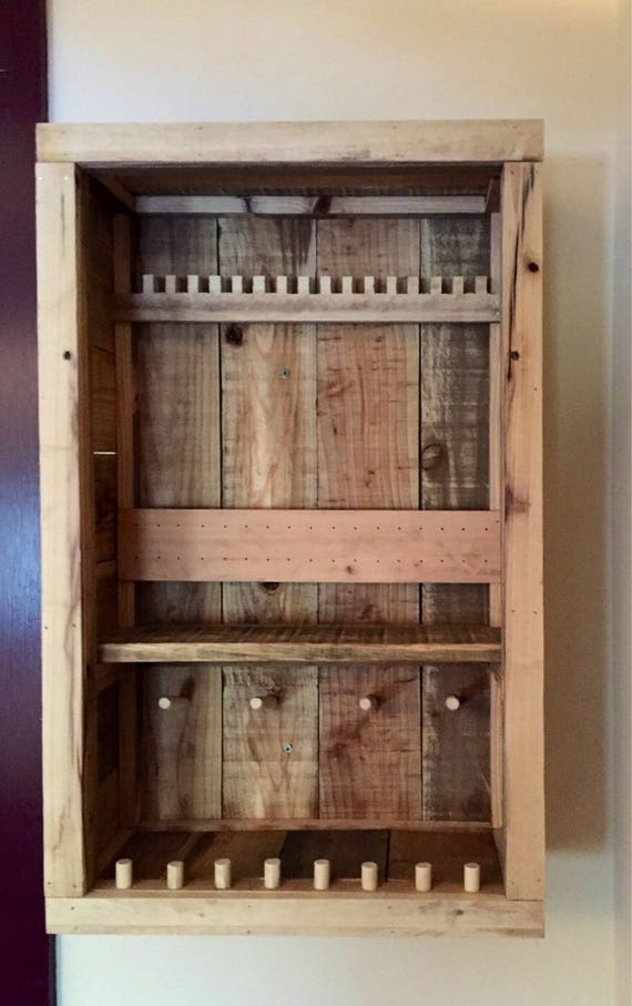 Rustic Jewelry Cabinet Pallet Jewerly Box Wall Jewerly