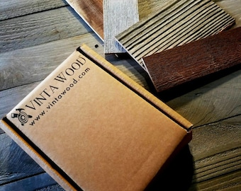 Barn Wood Wall Planks Sample Pack - Reclaimed Wall Paneling - Simple Peel & Stick - Barn Wood Accent Wall