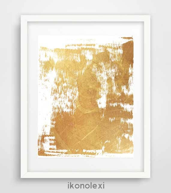 Modern wall art gold abstract print contemporary art wall