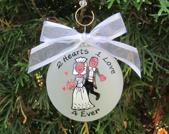 wedding ornamentchristmas ornamentscustom personalized ornamentcustom wedding ornament wedding gift gift for coupleafrocentric wedding
