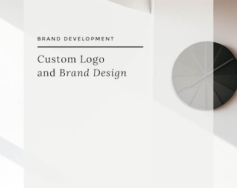 Custom Brand Development; Professionally Designed Logo and Complimentary Brand Elements, Comprehensive Branding Package for Small Businesses