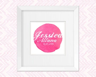 Framed Name frame, Name wall art, Kids wall art, Nursery Name, Wall art