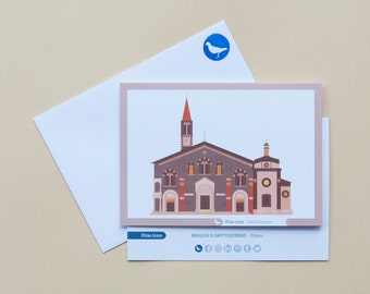 Milan Icons Greeting Cards-Basilica of Sant'Eustorgio-Milan