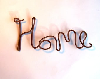 home sign uk, wire art sign, home wire design, home wall art, wired home art, kitchen signs, cottage signs, cottage decor, cottage wall art,